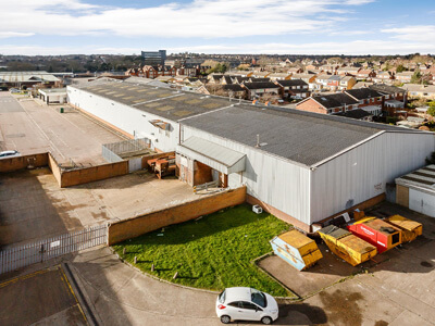 Melton Mowbray, Scalford Road - aerial back of site copy-400x300
