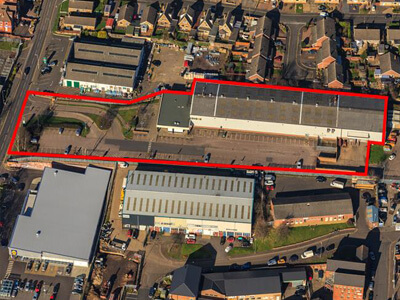 Melton Mowbray, Scalford Road - aerial outline copy-400x300