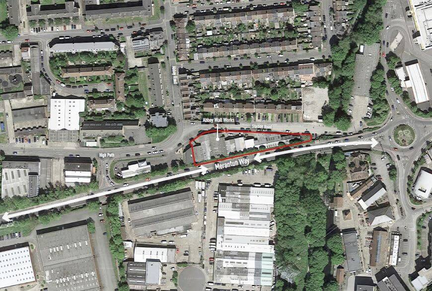 Abbey Wall Works_location plan